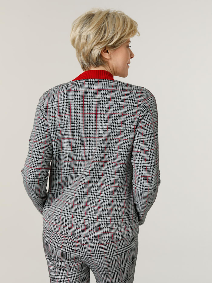 Shirtjacke mit Glencheck- Muster