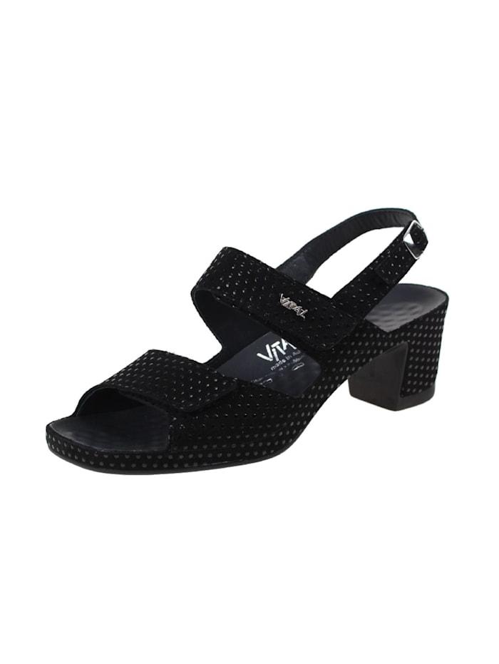 Vital Sandalen/Sandaletten, schwarz