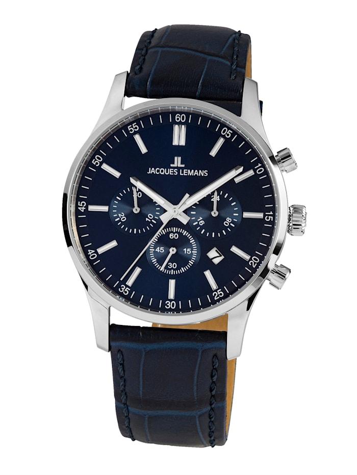 Jacques Lemans Herren-Uhr Chronograph Serie: London, Kollektion: Classic: 1- 2025C, Blau