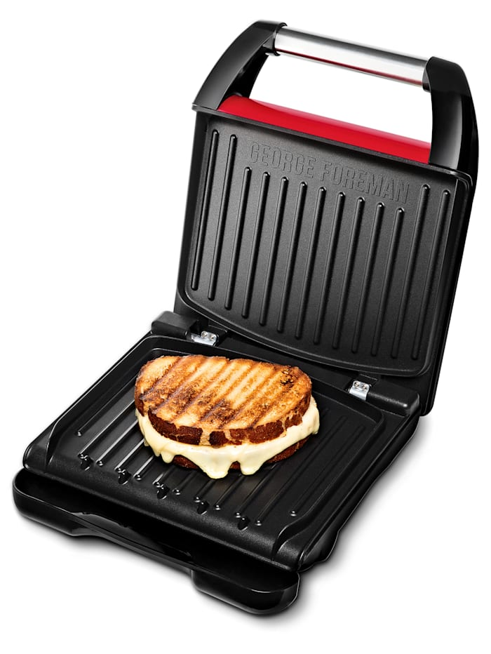 "George Foreman Appareil à croque-monsieur ""Steel Compact"" George Foreman 25030-56, Rouge"