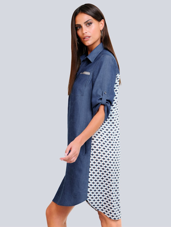 Kleid mit gemustertem Rückenteil