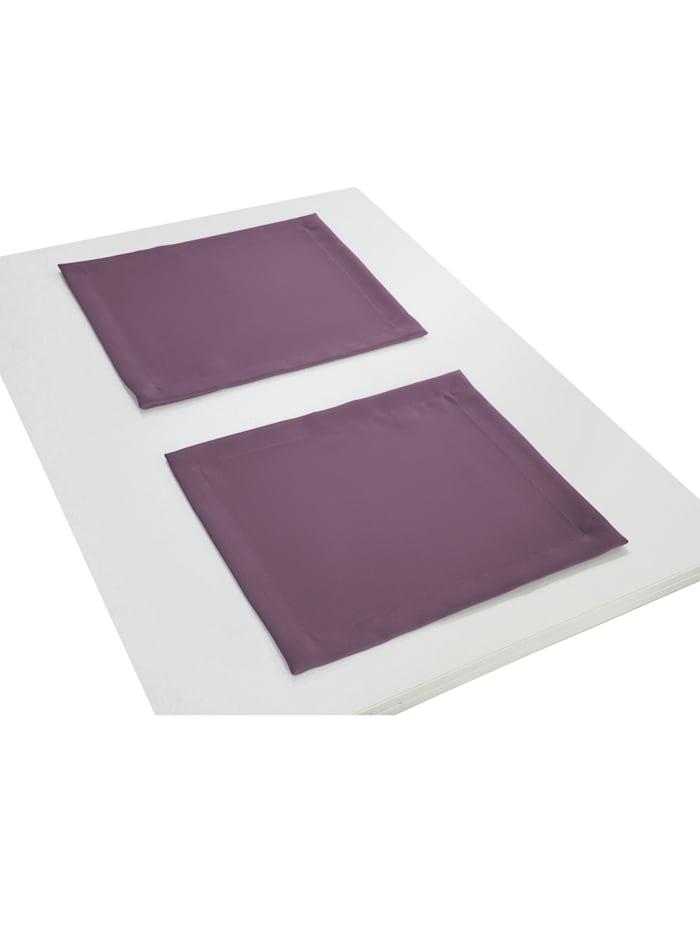 Wirth Tischset 'Uni Collection' 2er Pack, Aubergine