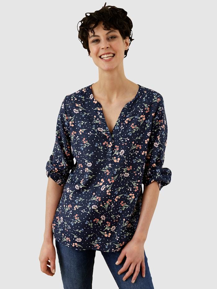 Dress In Blúzka s kvetinovou potlačou, Námornícka