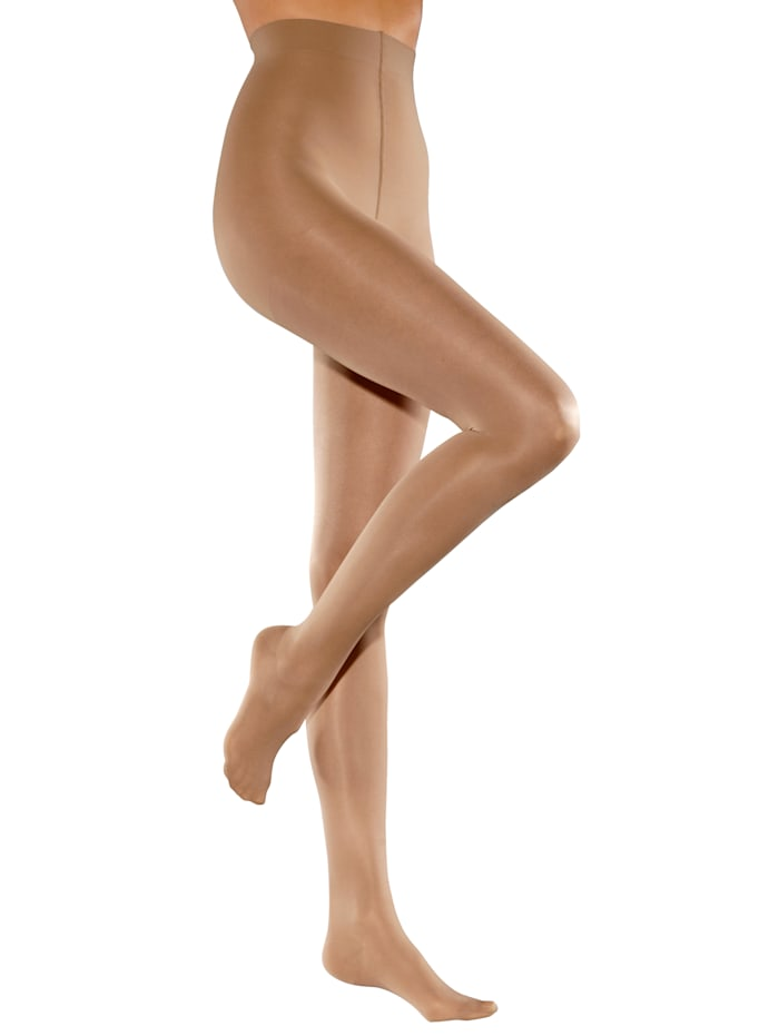 Disee Stützstrumpfhose im 2er-Pack mit aktiver Stützwirkung, Nude