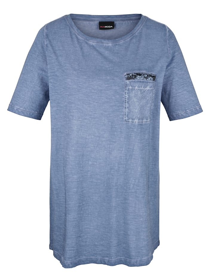Shirt in oil washed look
