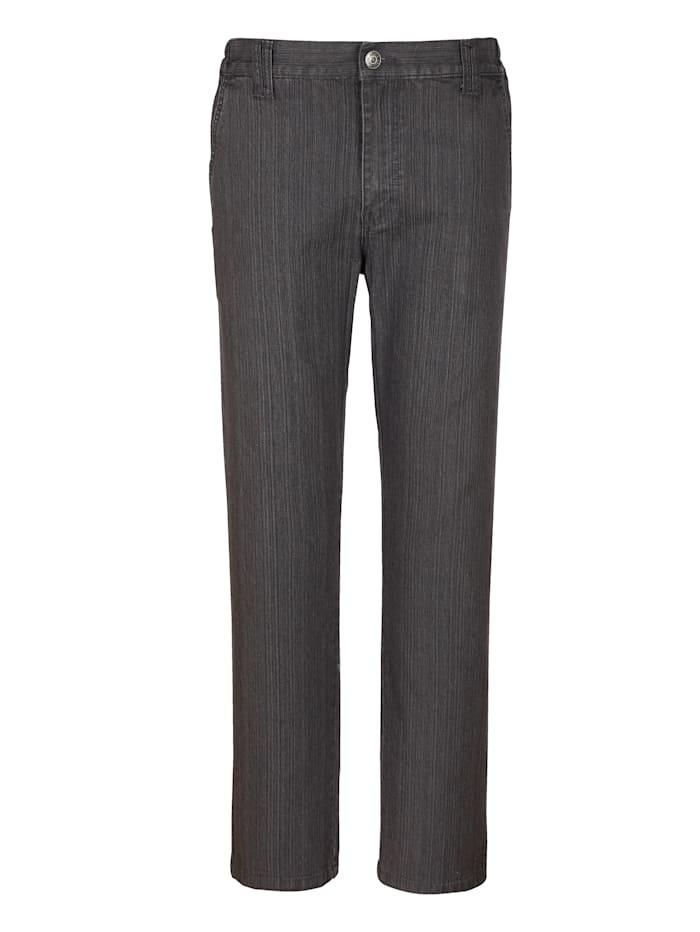 Roger Kent Jeans mit schrägen Eingrifftaschen, Grau