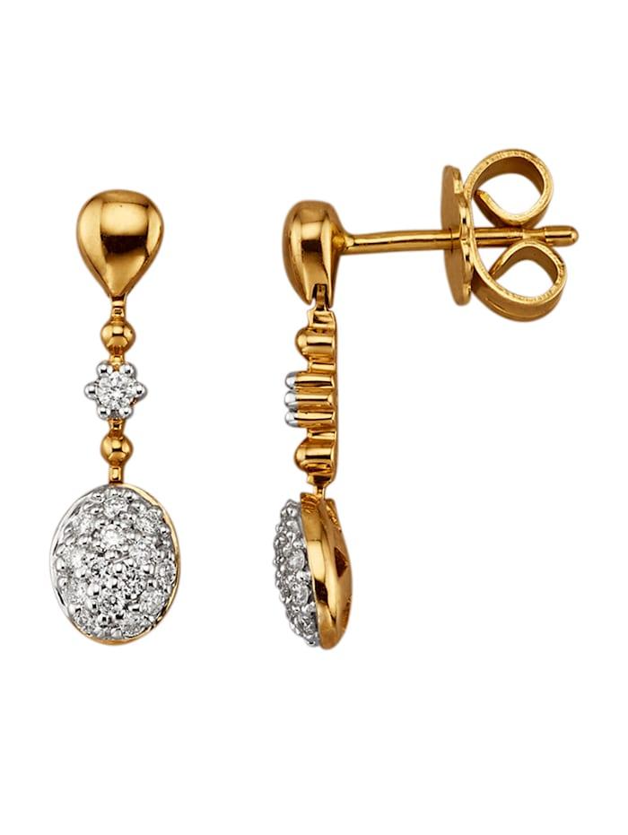 Diemer Diamant Oorbellen met briljanten, Geelgoudkleur