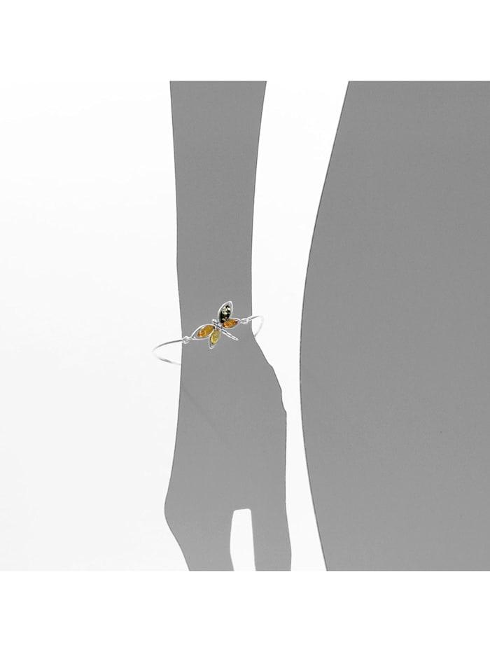 Armreif - Schmetterling - Silber 925/000 - Bernstein