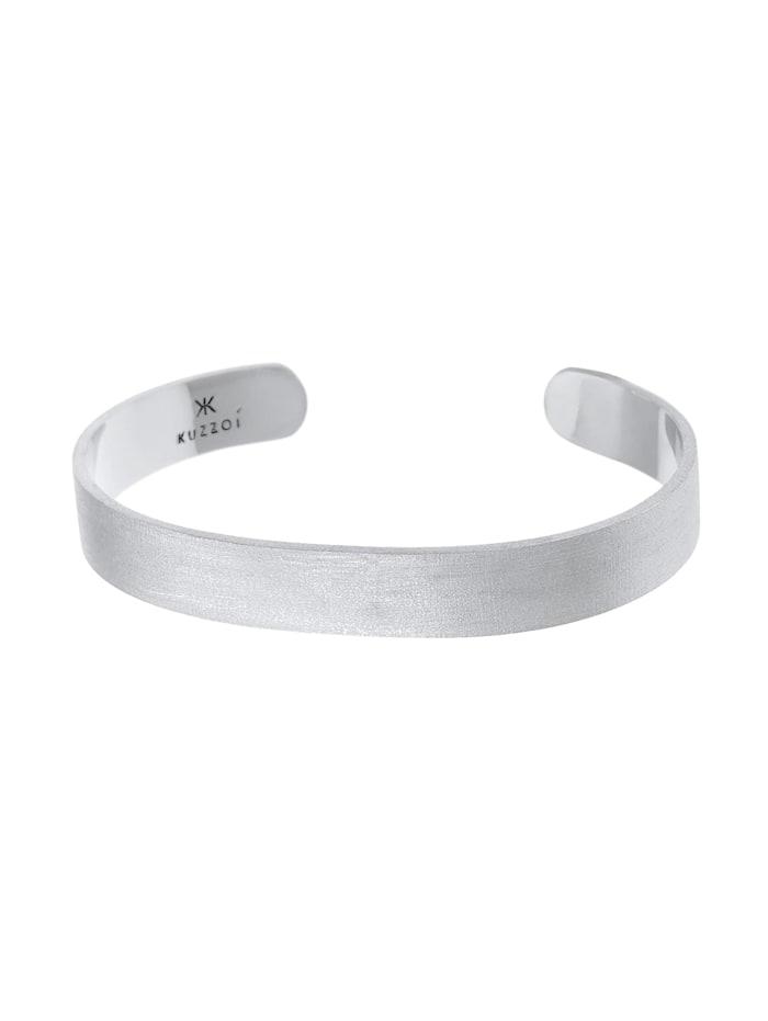 Armband Herren Armreif Offen Glanz Breit Basic 925 Silber