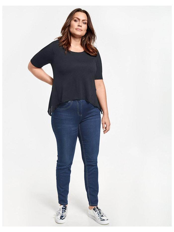 Samoon 5-Pocket Jeans in 7/8 Länge Betty Jeans, Dunkelblau Denim