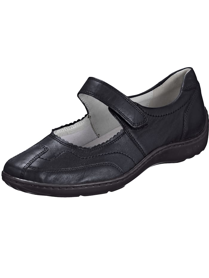 Waldläufer Velcro shoes with stitched detailing, Anthracite