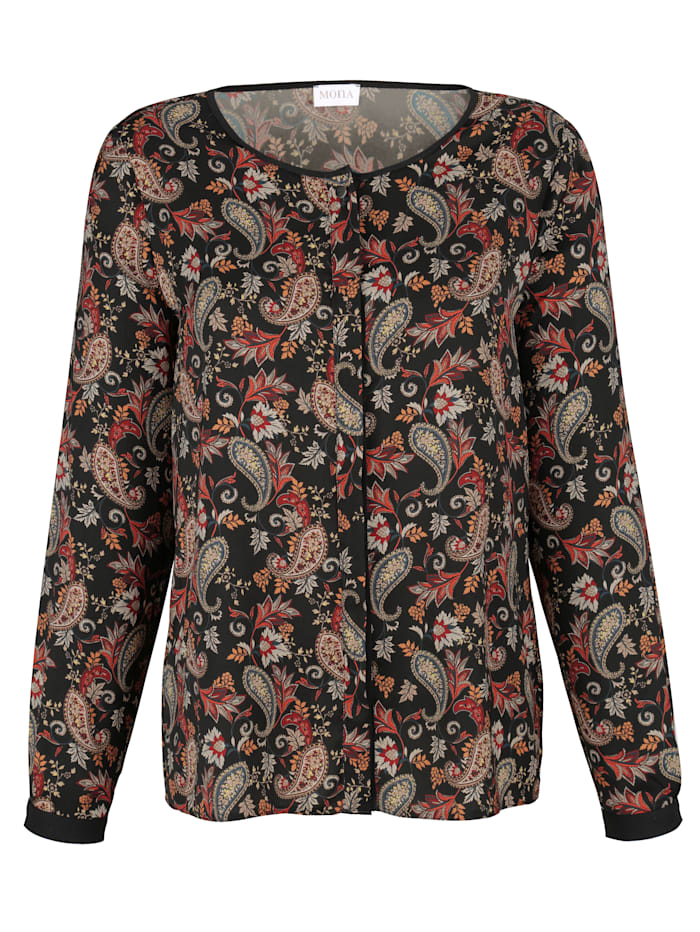 Blouse with paisley pattern