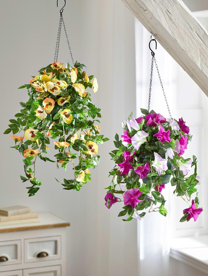 Konstgjord växt, hängpetunia, Flerfärgad