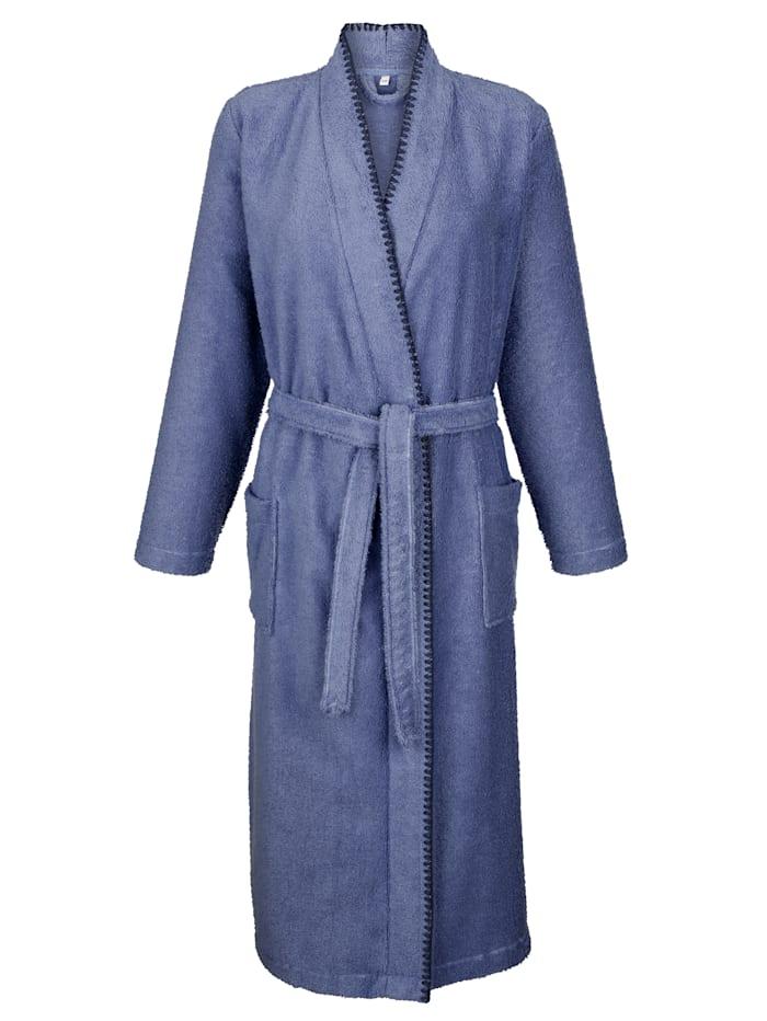 Bademantel mit Turban-Handtuch und Hausschuhen Set