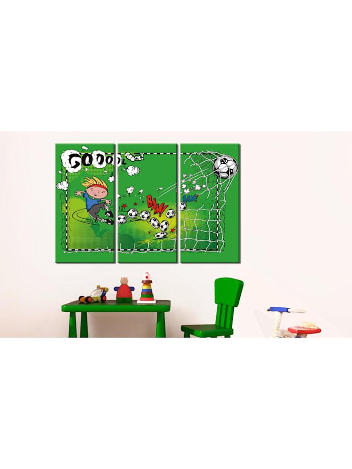 Wandbild Football game - triptych