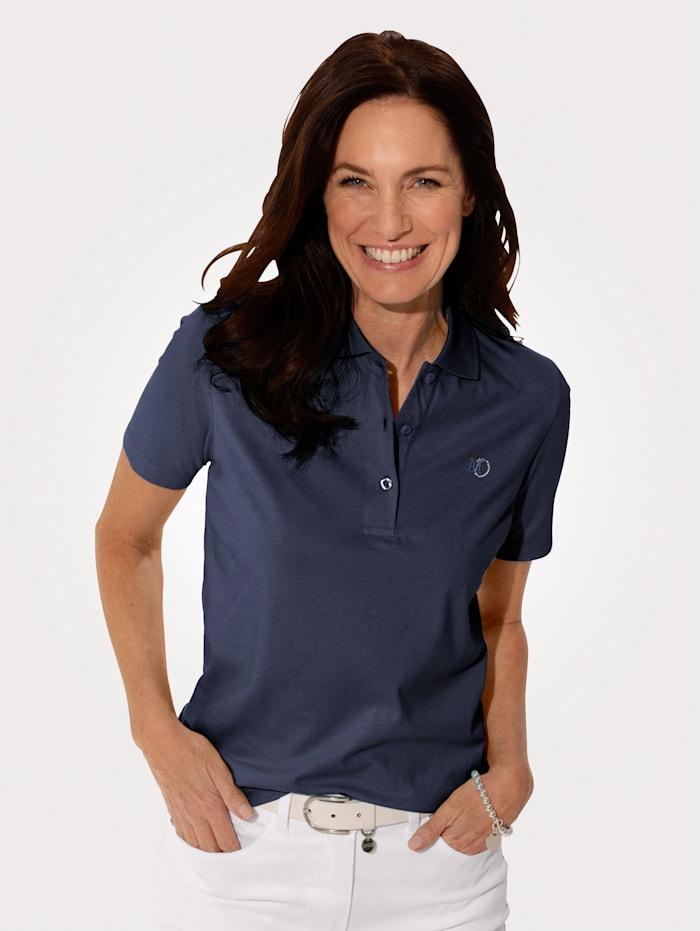 MONA Poloshirt aus Cotton made in Africa, Marineblau