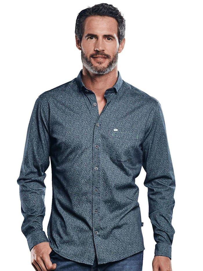 Engbers Hochelastisches Jerseyhemd, Moosgrün