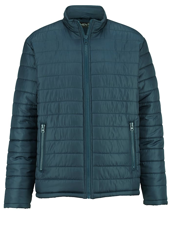 Men Plus Steppjacke mit Stehkragen, Petrol