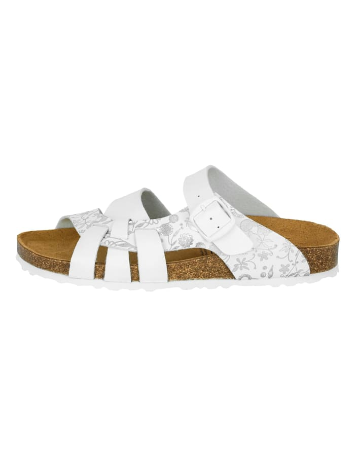 Lico Pantolette, weiss/silber