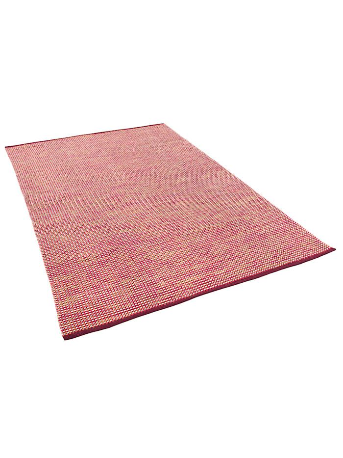 Pergamon Baumwolle Natur Kelim Teppich Sandy Modern, Rot