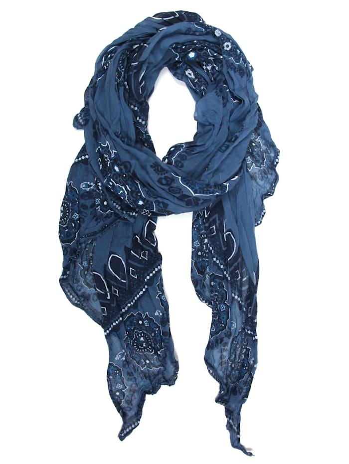 Collezione Alessandro Italienischer Schal Jeanine Made in Italy, jeans