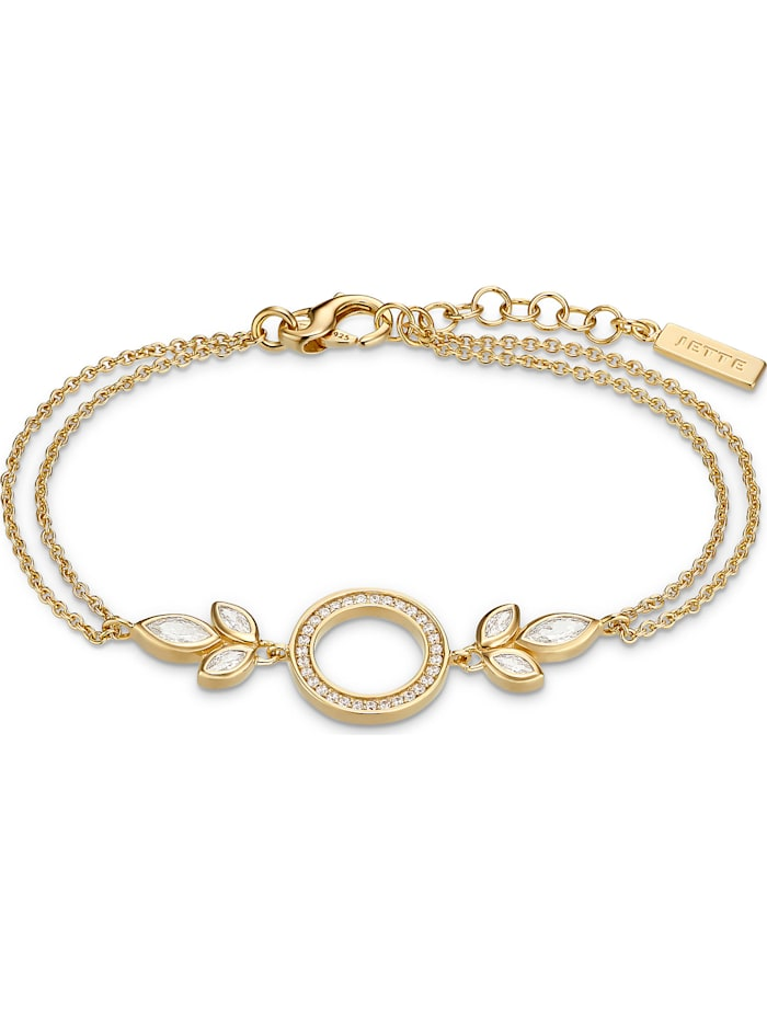 Jette JETTE Silver Damen-Armband 925er Silber, gelbgold