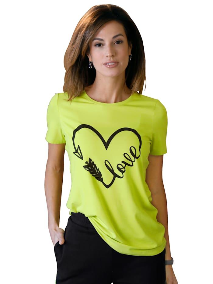 AMY VERMONT Shirt met print voor, Neongroen