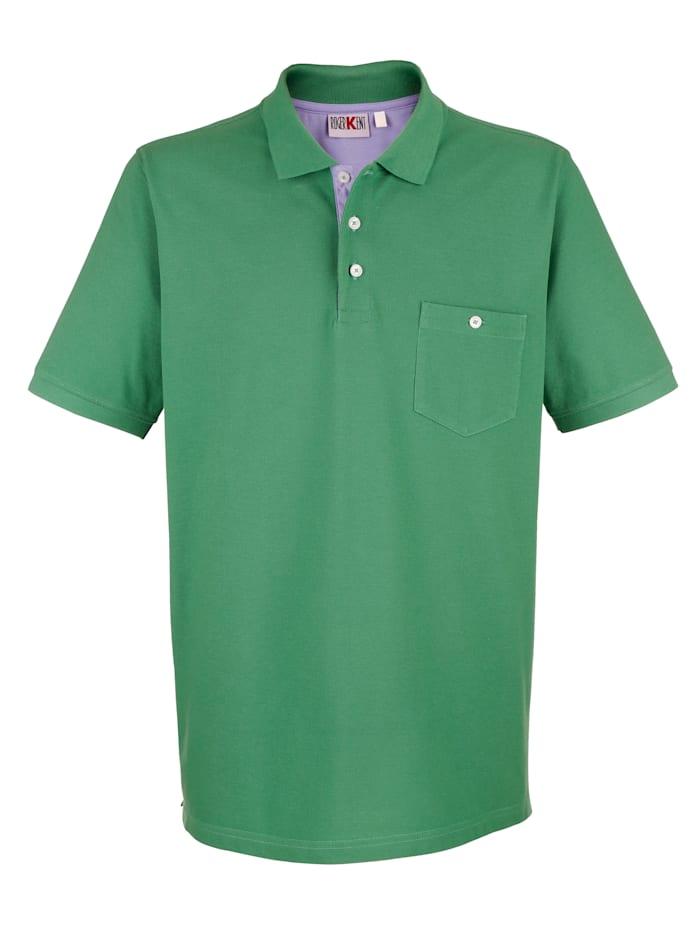 Roger Kent Poloshirt in reiner Baumwolle, Grün