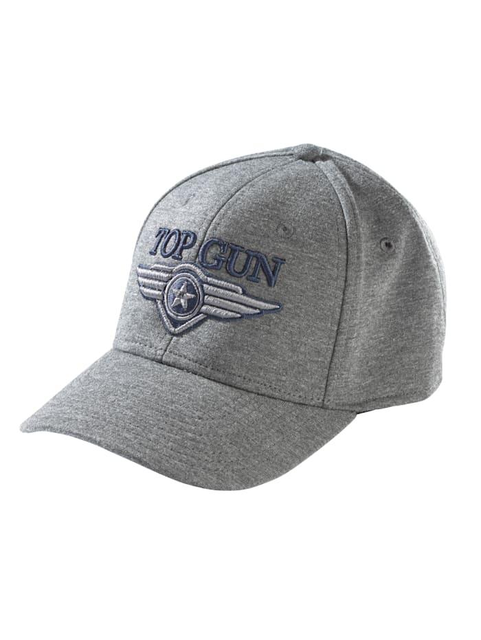 Top Gun Cap mit Stickerei, dunkelgrau meliert