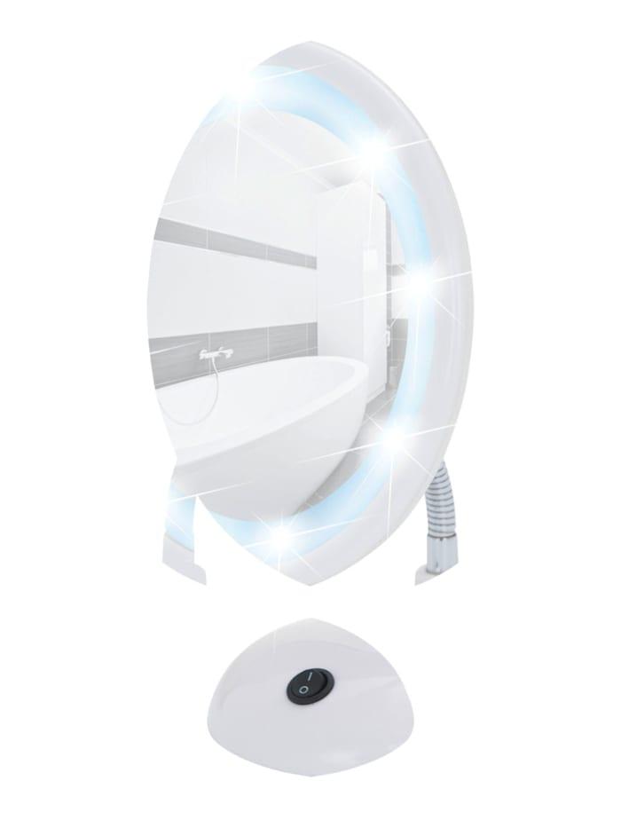 Wenko LED Kosmetikspiegel Style Weiß, Standspiegel, 3-fach Vergrößerung, Weiß