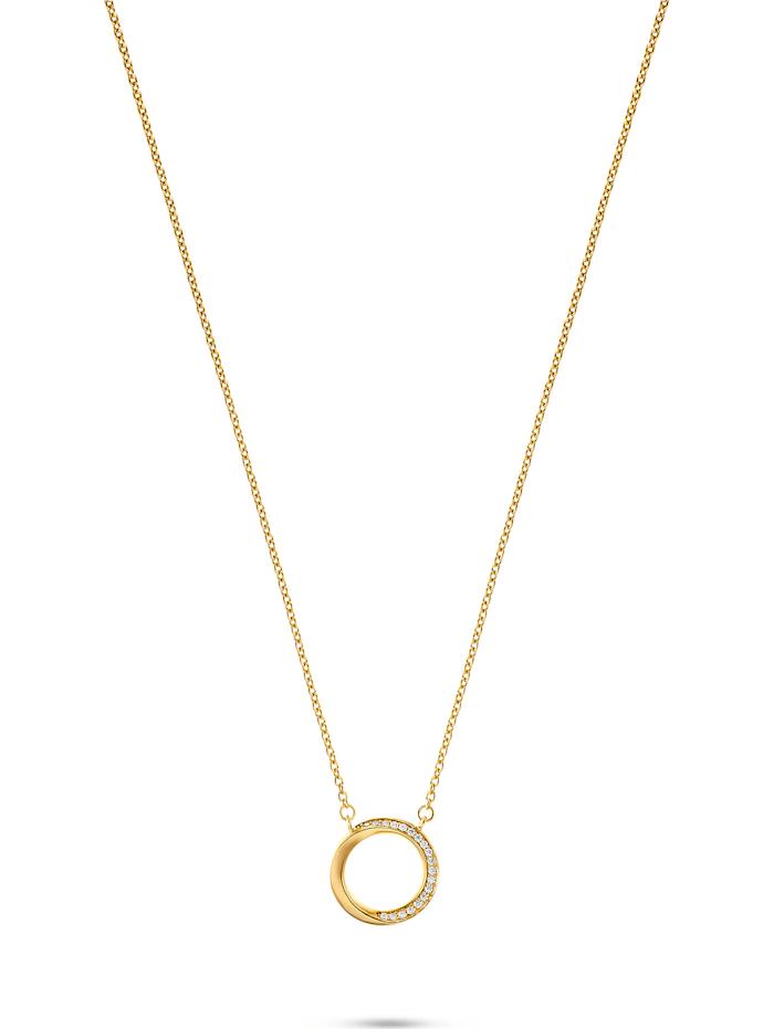 Jette JETTE Silver Damen-Kette 925er Silber 19 Zirkonia, gelbgold