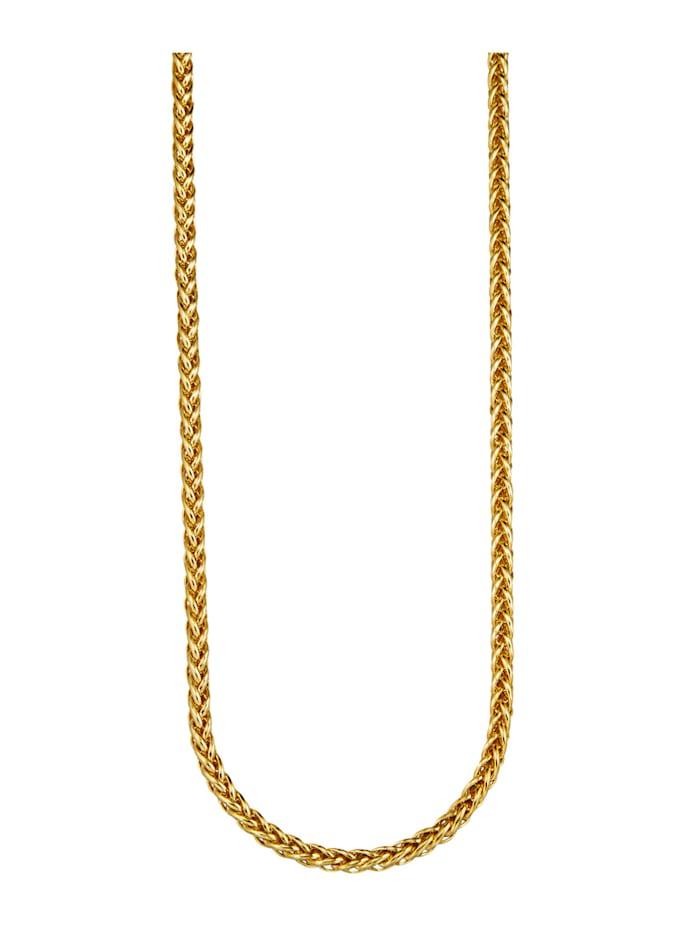 Diemer Gold Flettet kjede i gull 585, Gullfarget