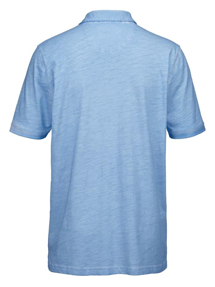 Poloshirt met gedessineerde details