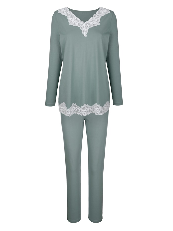 Pyjamas with contrast lace
