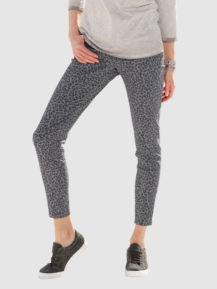 Laura Kent Jeans Laura Extra Slim - in modischem Alloverdruck, Grau/Anthrazit