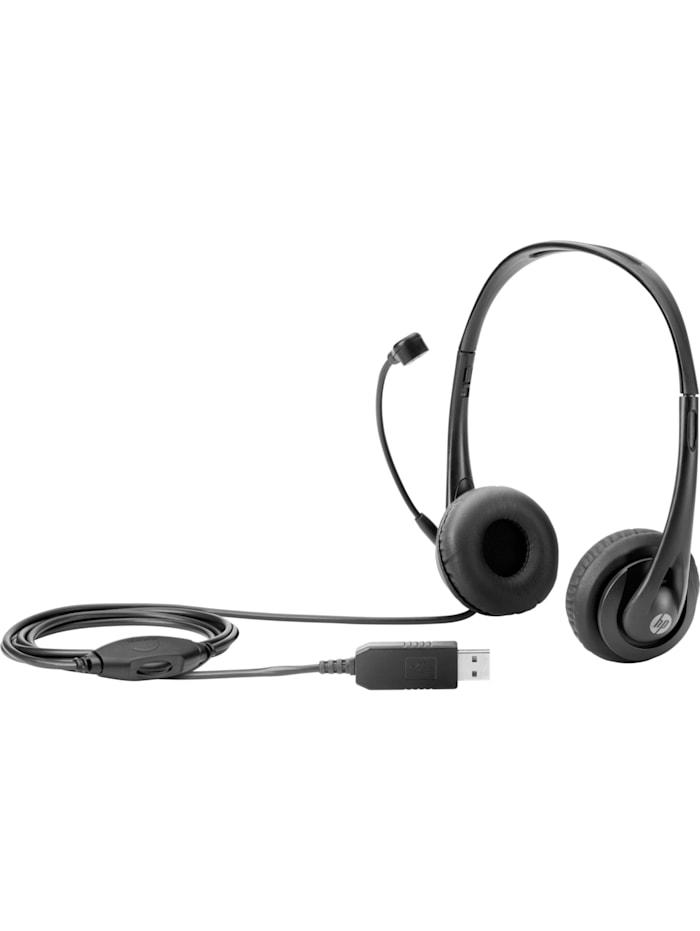 HP Headset Stereo-USB-Headset, Schwarz