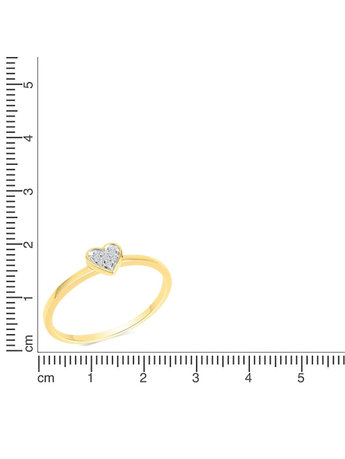 Ring 585/- Gold Brillant weiß Diamant Glänzend 0,025ct.