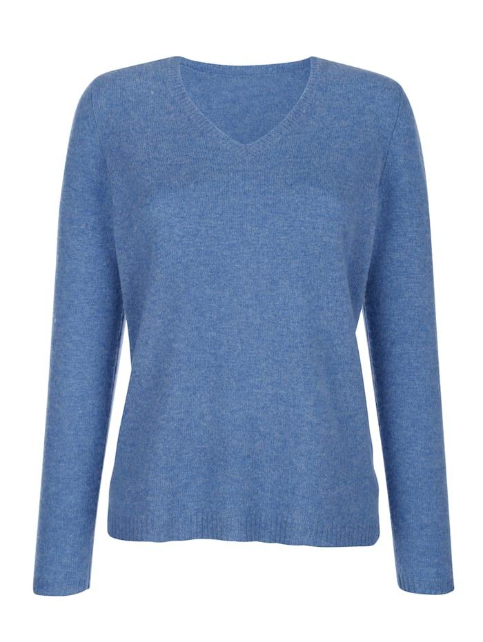 MONA Pullover aus reinem Kaschmir, Blau