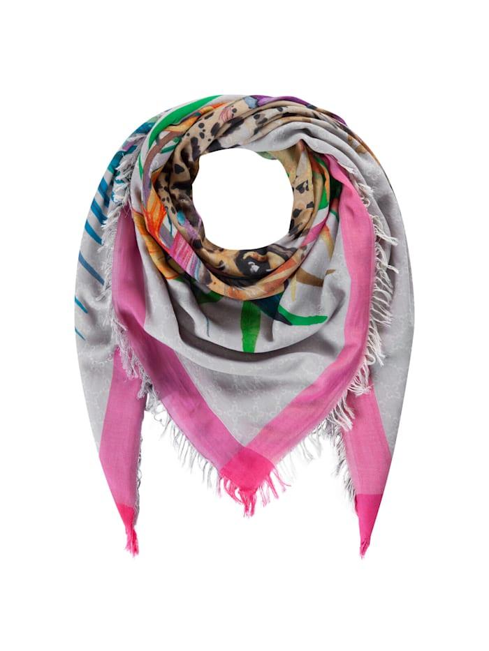 Codello Premium Leo-Tuch aus Baumwolle und Modal, dark pink