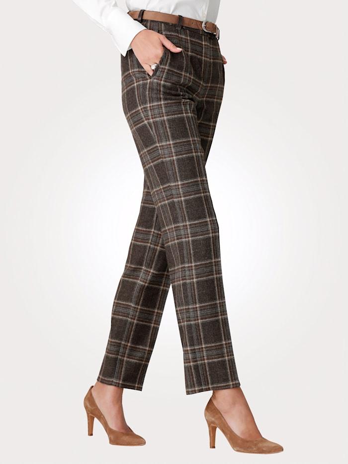 Pantalon à carreaux tissé-teint