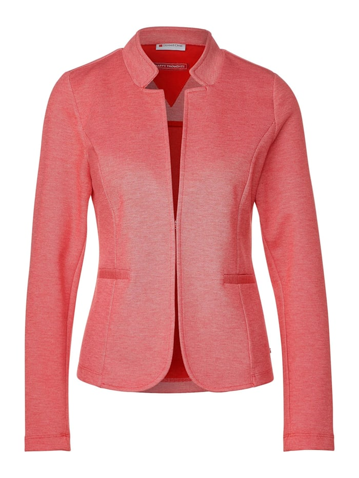 Street One Piqué-Businessblazer, blazing red melange