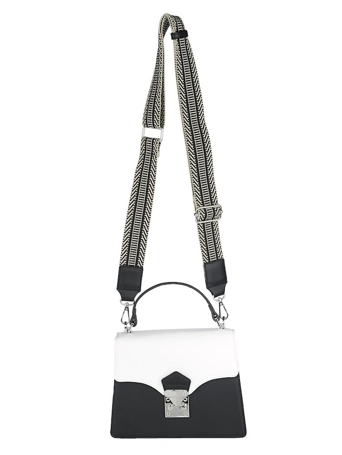 EMILY & NOAH Handtasche in schöner Farbkombi, Schwarz/Weiß
