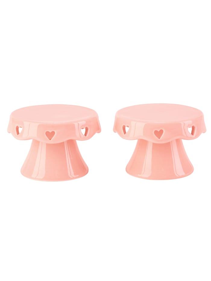 IMPRESSIONEN living Servierplatten-Set, 2-tlg. Cupcake, pink