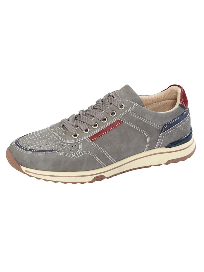 Roger Kent Sneakers à perforations, Gris