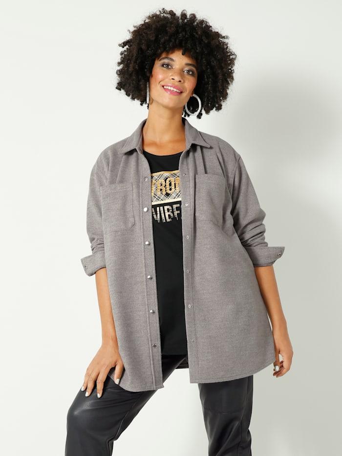 Angel of Style Überhemd mit Brusttaschen, Kitt