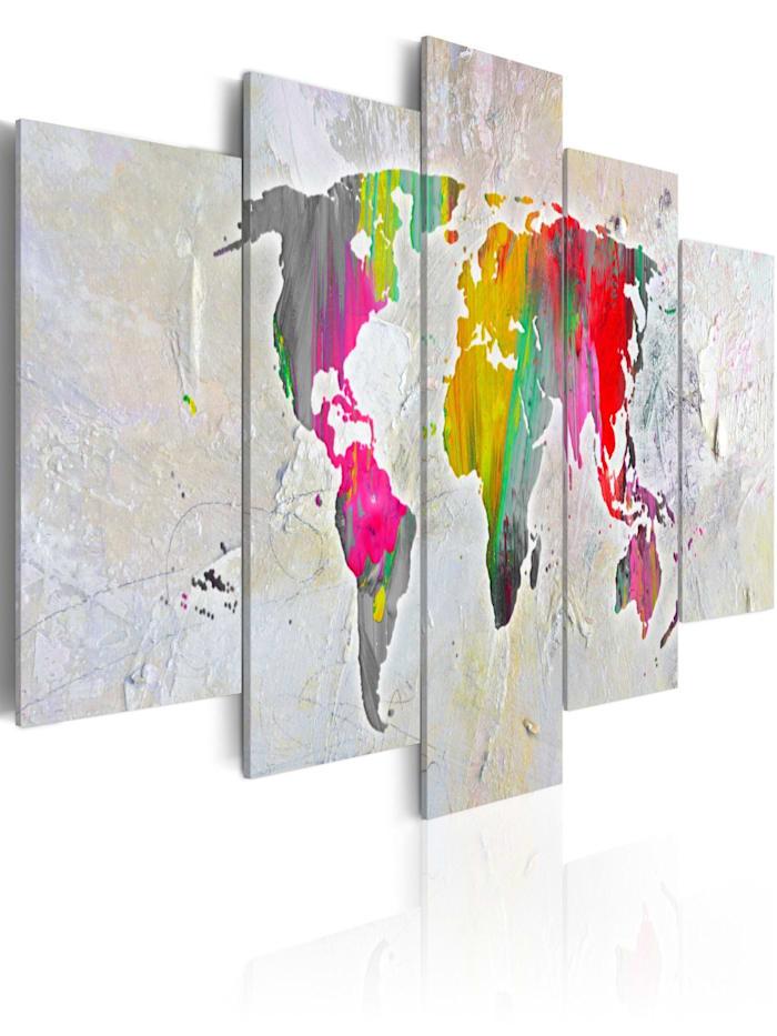 artgeist Wandbild Illustration of the World, mehrfarbig