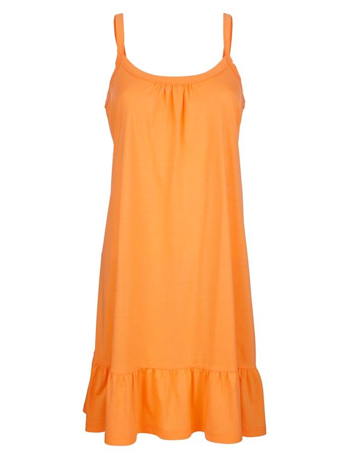 Maritim Strandkjole med volang, Oransje