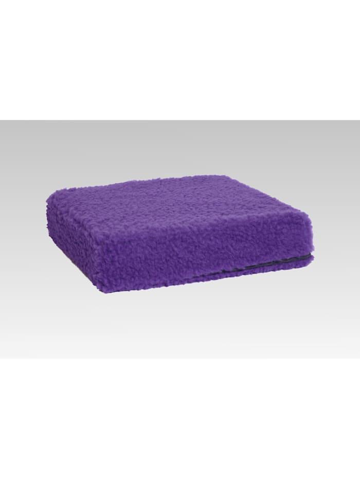 Linke Licardo Sitzkissen Sitzerhöhung Aufstehhilfe Auto Wolle lila 40/40/10 cm, lila
