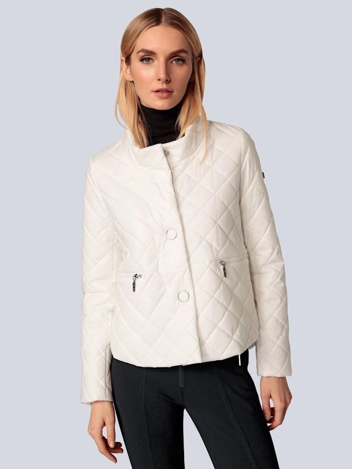 Airfield Jacke mit dekorativen Reißverschlüssen, Creme-Weiß