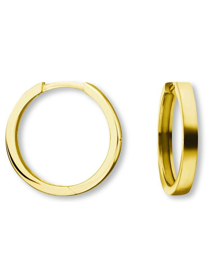 One Element Damen Schmuck Orhringe / Creolen aus 585 Gelbgold, gold